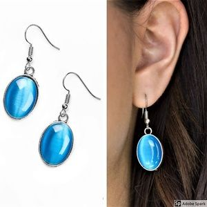 Pool Hoppin - Blue Moonstone & Silver Earrings